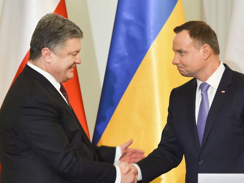 Порошенко обсудил спрезидентом Польши санкции против Российской Федерации