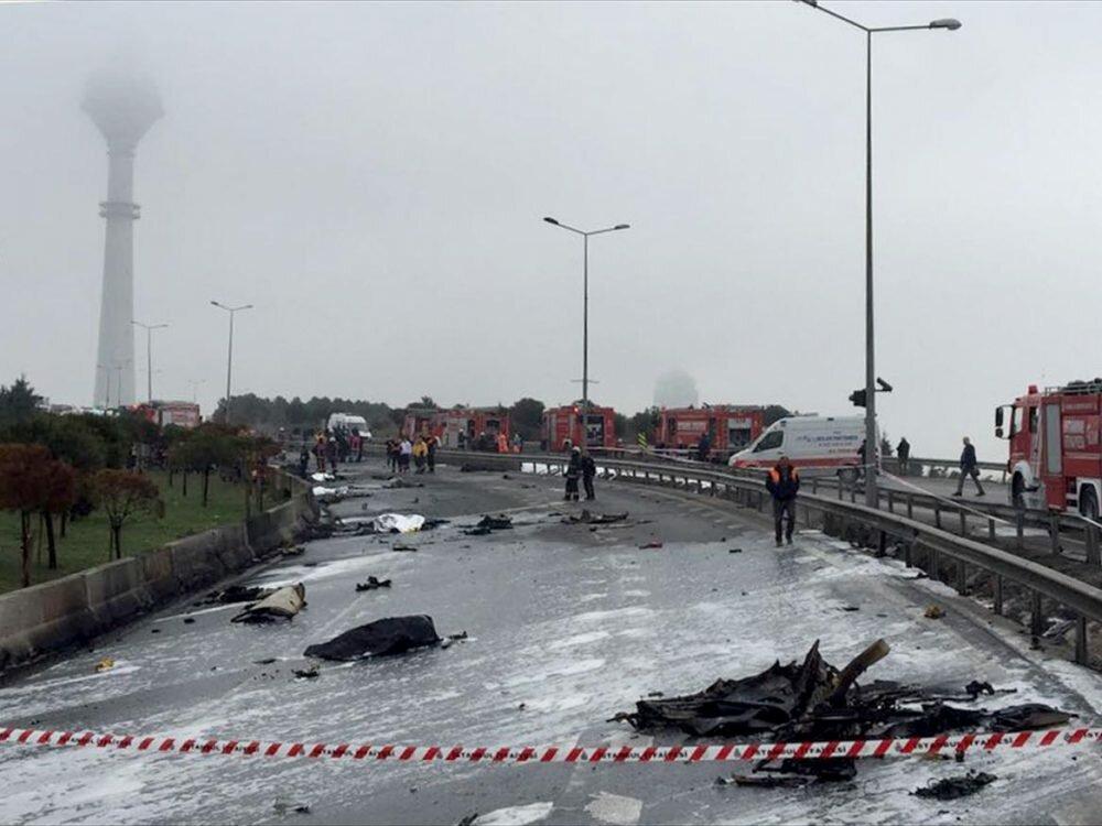 Погибшие при падении вертолёта вТурции жители России работали встроительной компании