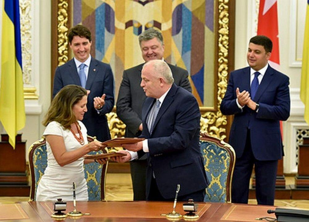 Соглашение оЗСТ Украина-Канада вступит всилу с1августа