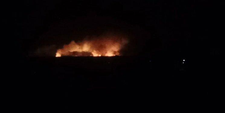 Пожар наарсенале боеприпасов вВиннице гасят неменее тысячи человек