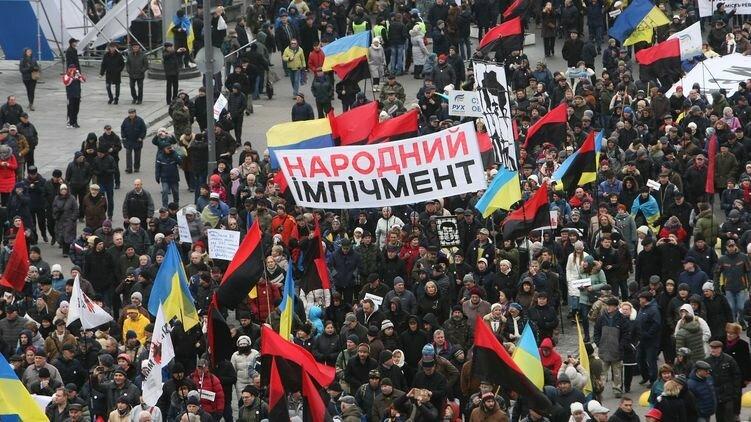 ВКиеве проходит марш приверженцев Саакашвили