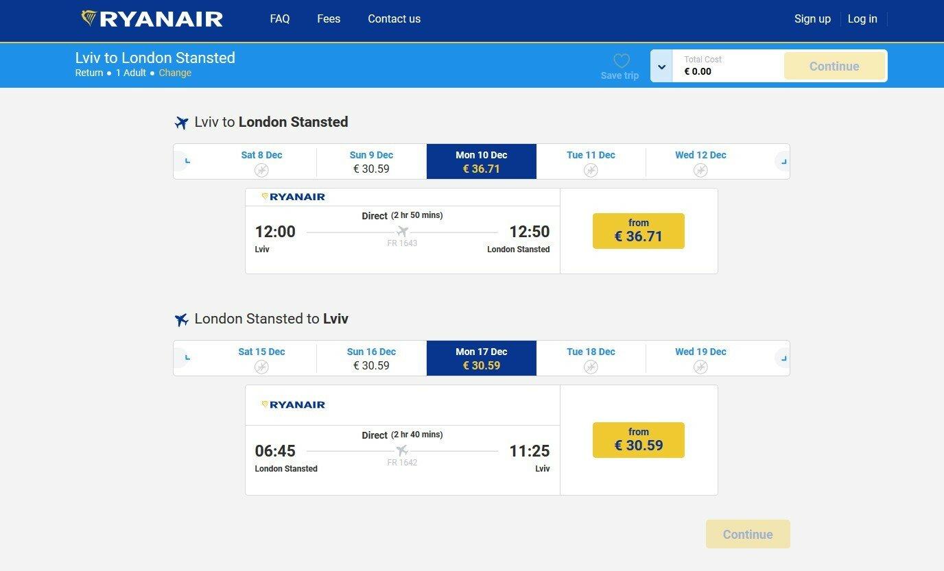 Лоукостер Ryanair трудоустроит 250 украинцев
